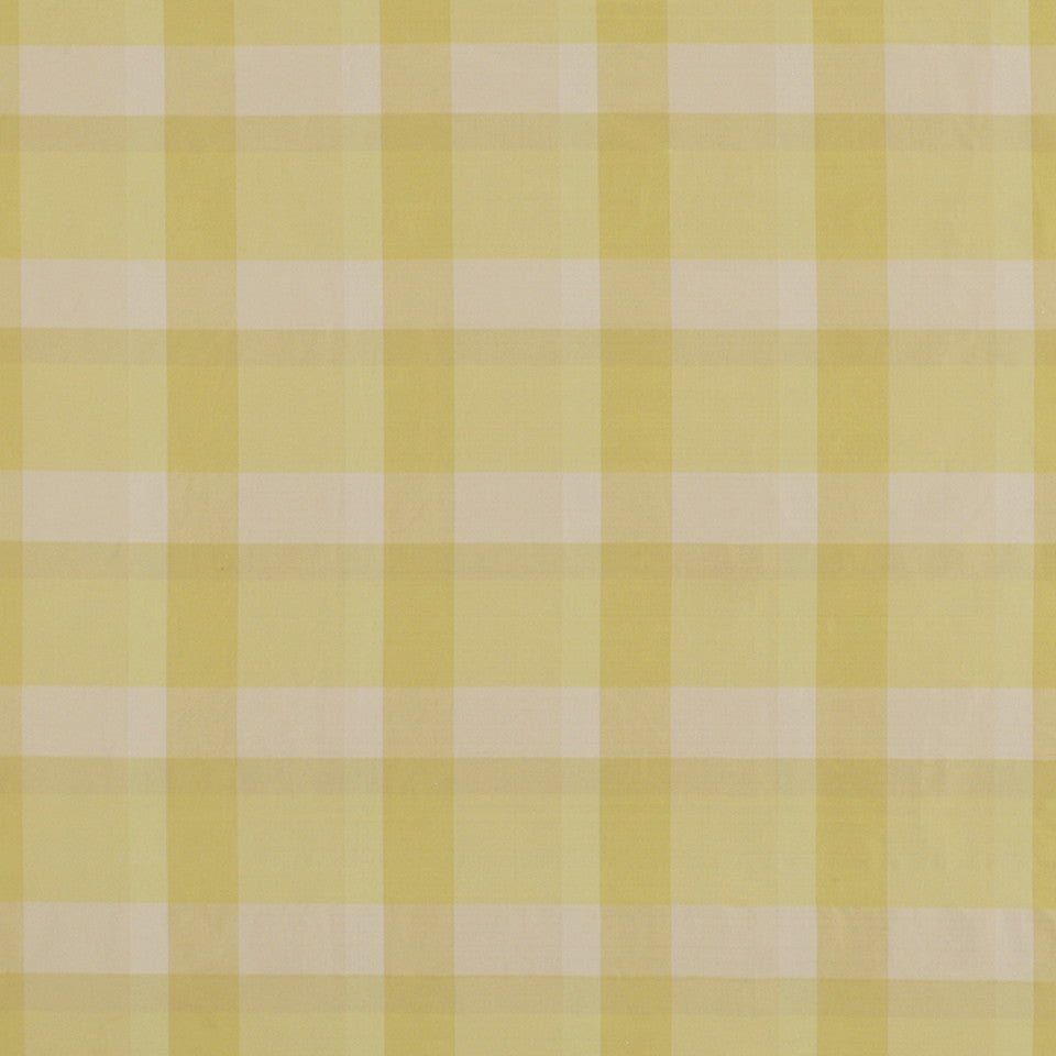 GARDEN Caraco Plaid Fabric - Yellow Lotus