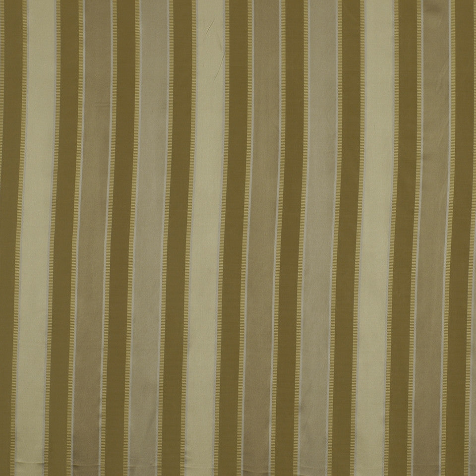 SILK JACQUARDS & EMBROIDERIES I Bourbon Stripe Fabric - Silver
