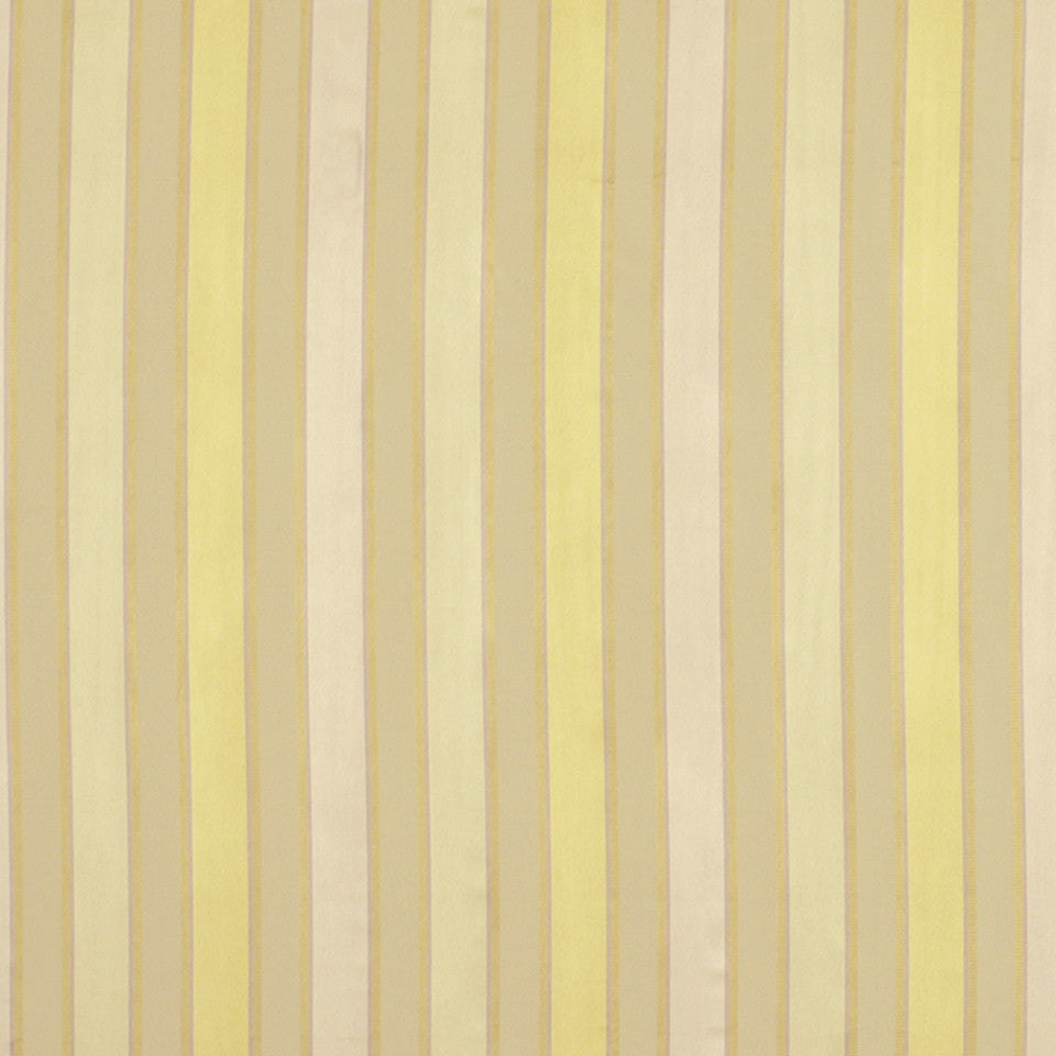 GARDEN Bourbon Stripe Fabric - Yellow Lotus