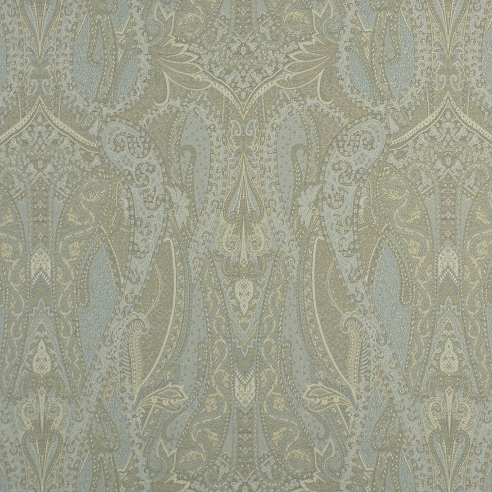 FROST Villa Paisley Fabric - Frost
