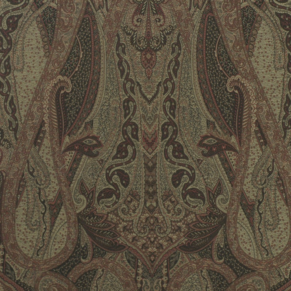 SMOKE Villa Paisley Fabric - Smoke