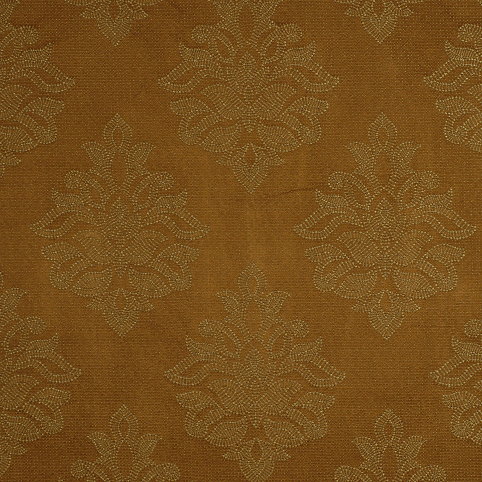 TEAK Sea Rose Fabric - Teak