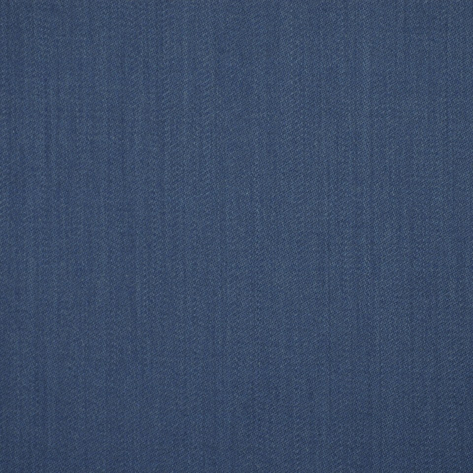 LINEN, WOOL AND CASHMERE SOLIDS Wool Sateen Fabric - Indigo