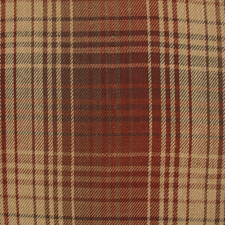 TEAK Pampas Plaid Fabric - Teak