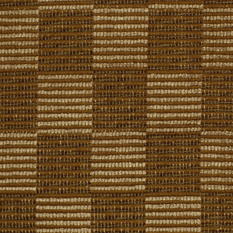 TEAK Tinamou Check Fabric - Teak