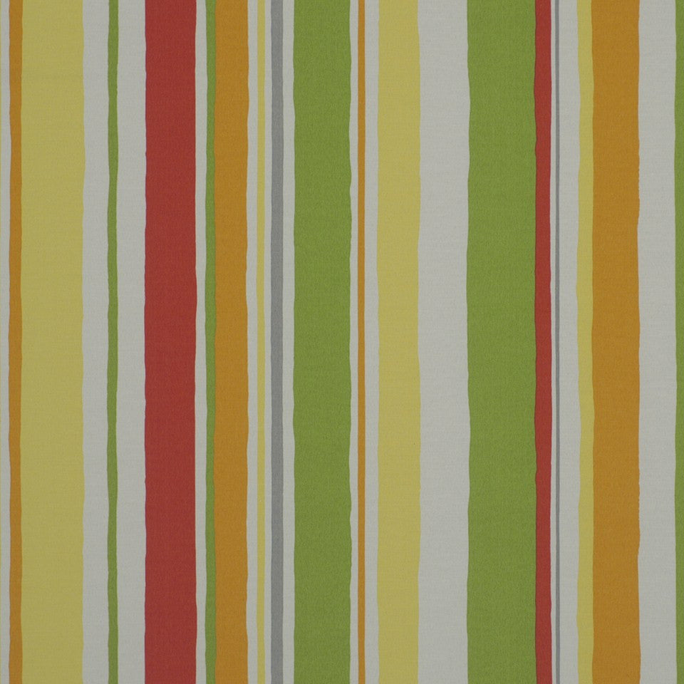 OUTDOOR @ HOME Baja Stripe Fabric - Poppy
