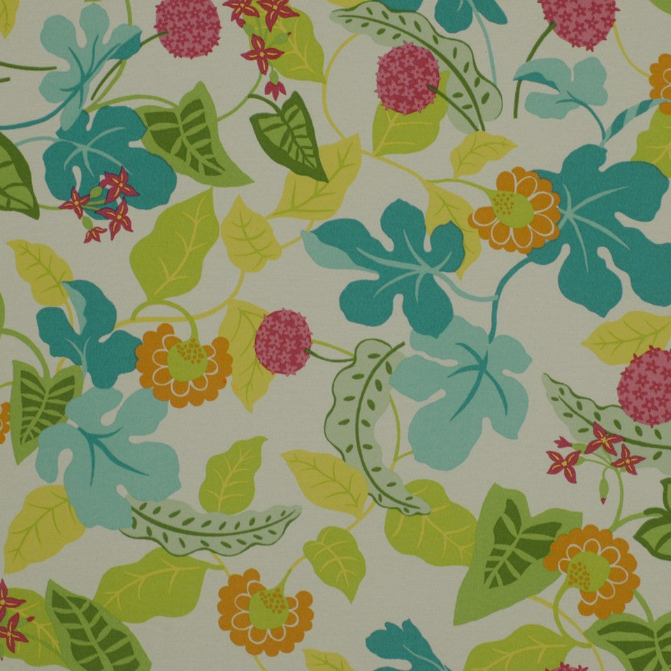 OUTDOOR @ HOME Baja Floral Fabric - Fiesta