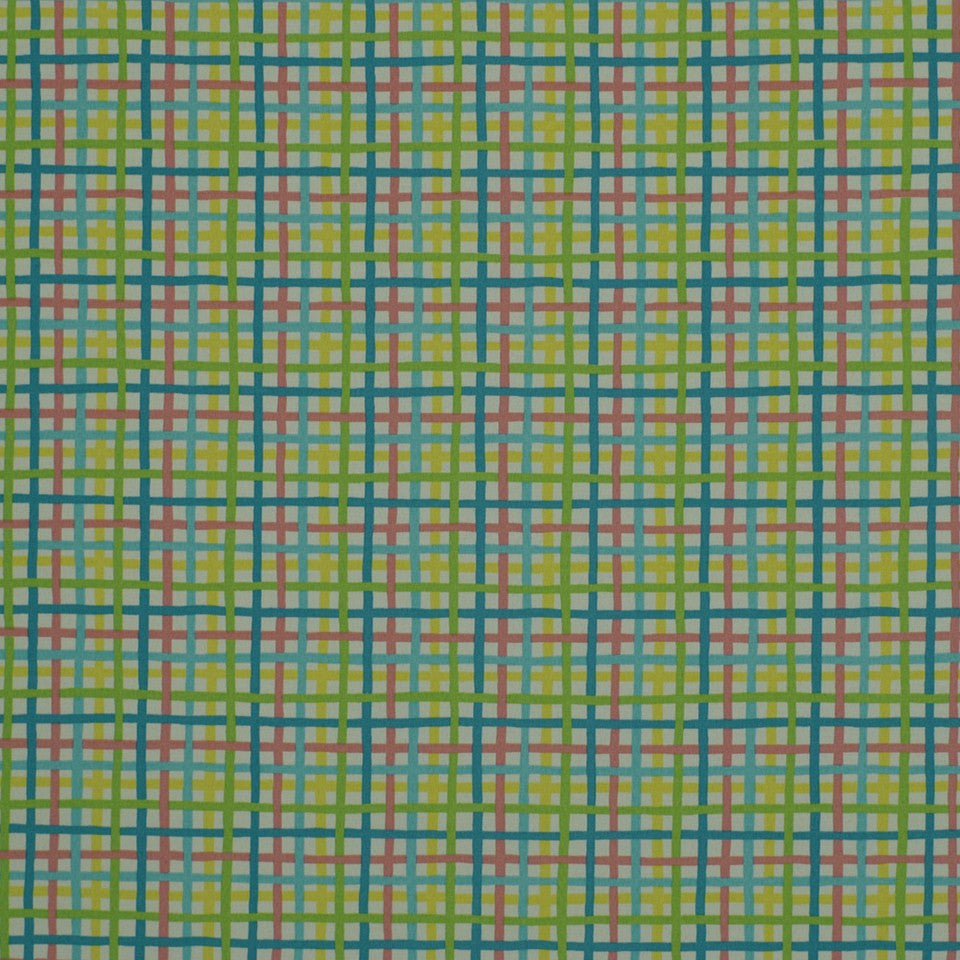 OUTDOOR @ HOME Baja Plaid Fabric - Fiesta