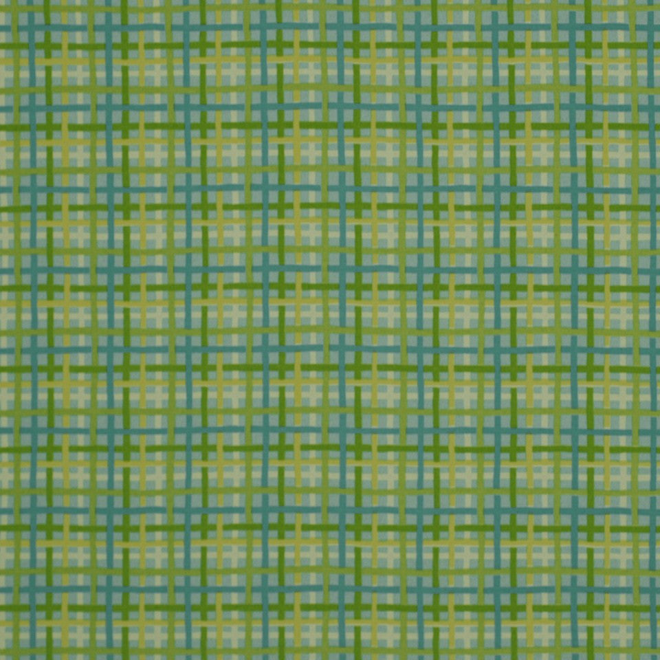 OUTDOOR @ HOME Baja Plaid Fabric - Turquoise