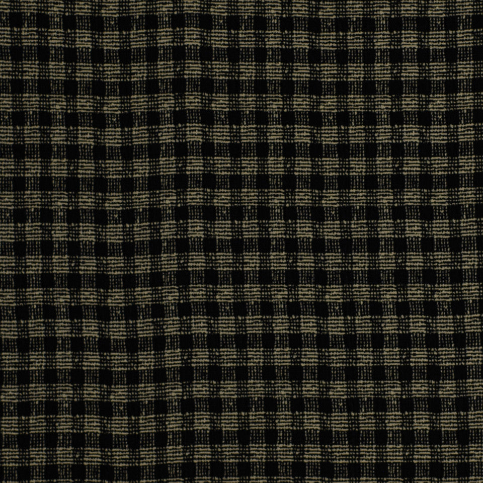 OCEANA INDOOR/OUTDOOR Plaid Mat Fabric - Prussian