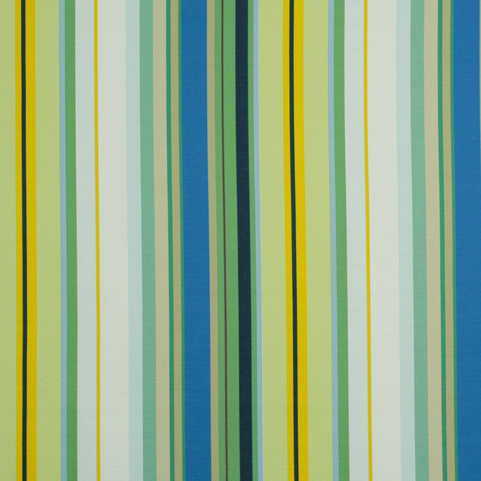OUTDOOR @ HOME Cabo Stripe Bk Fabric - Pacific