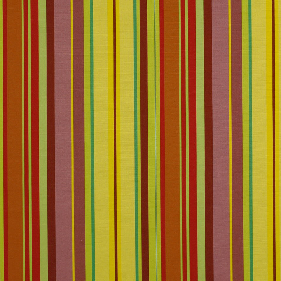 OUTDOOR @ HOME Cabo Stripe Bk Fabric - Sunbeam