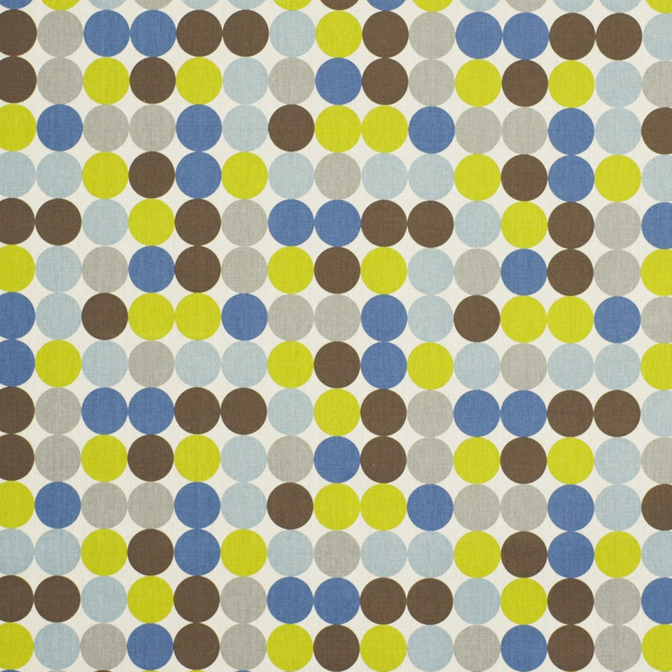 Zoo Dot Fabric - Blue