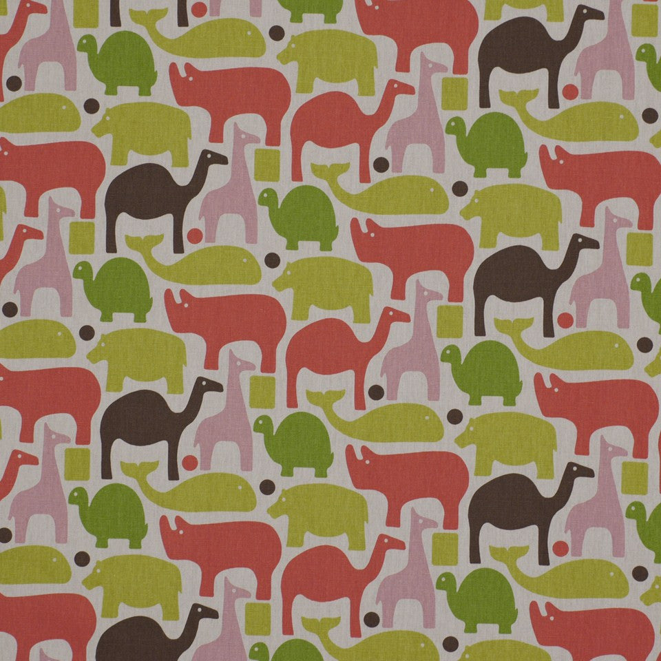 Zoo Pals Fabric - Pink