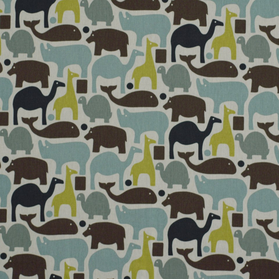 Zoo Pals Fabric - Blue