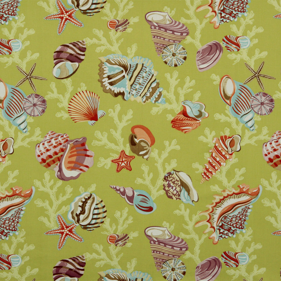 KIWI-FIESTA-CARIBBEAN Sea Anemone Fabric - Apple