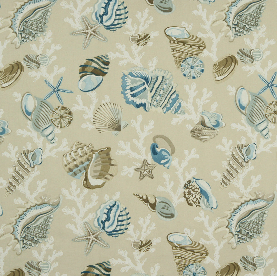 MIST-ATLANTIS-LAPIS Sea Anemone Fabric - Skipper