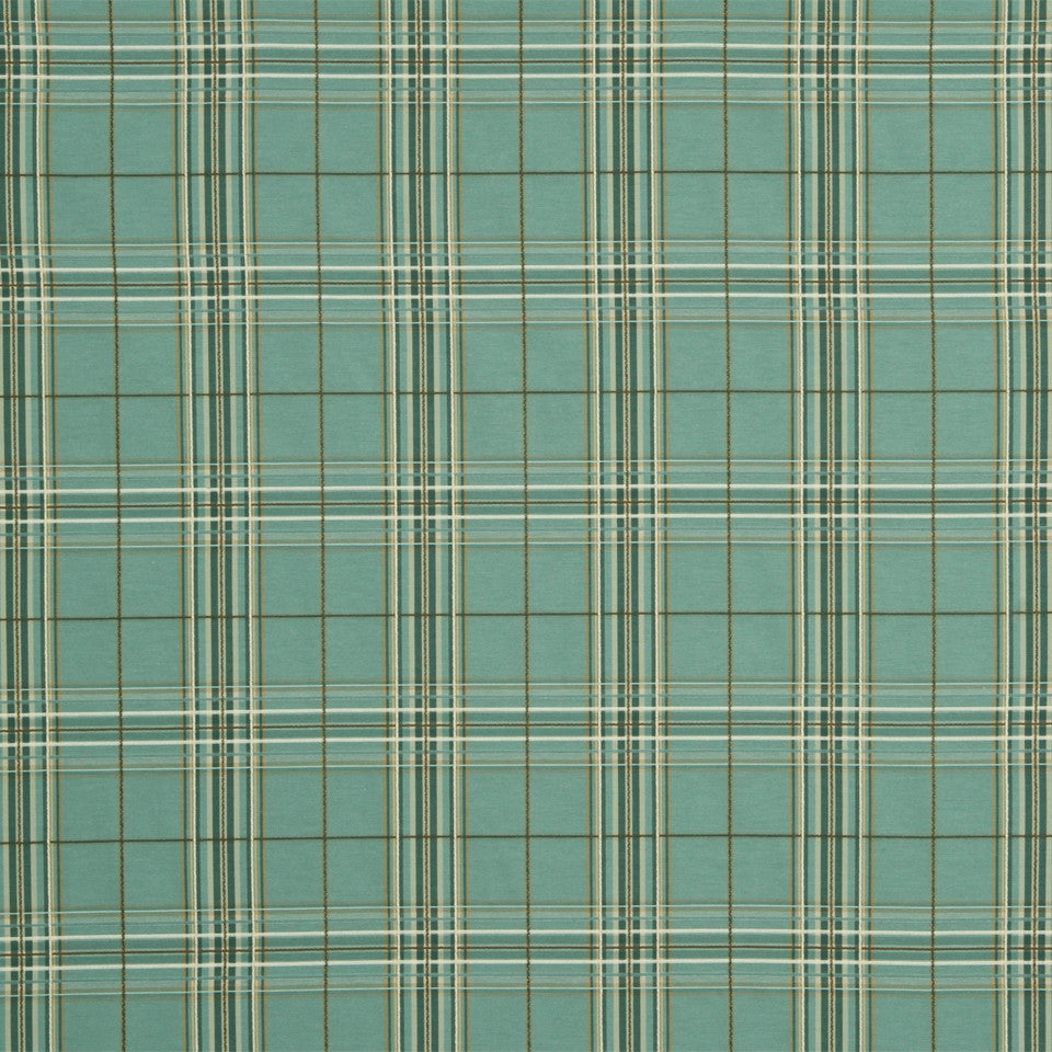 KIWI-FIESTA-CARIBBEAN Elba Plaid Fabric - Nile
