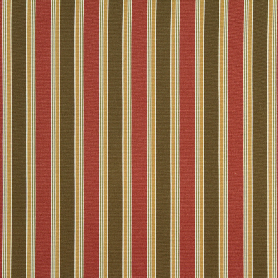 RUBY-BEESWAX-GERANIUM Chicora Stripe Fabric - Rose