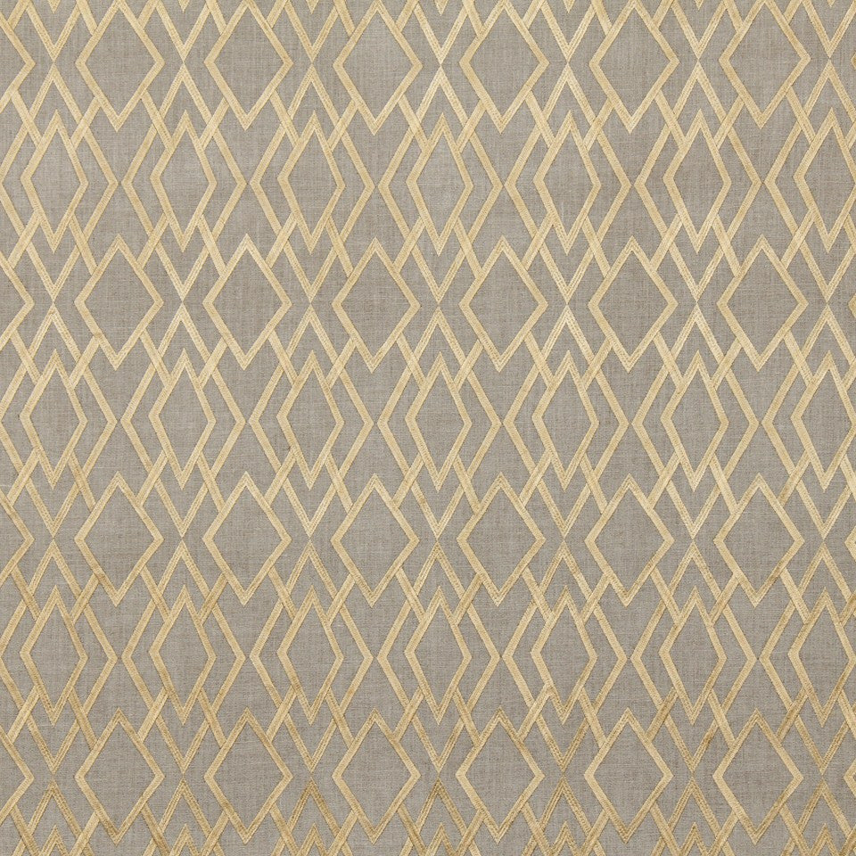 GOLD LEAF Angle Lane Fabric - Amber