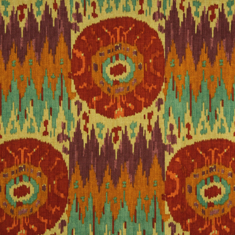 RUBY-BEESWAX-GERANIUM Navajo Nation Fabric - Brandy
