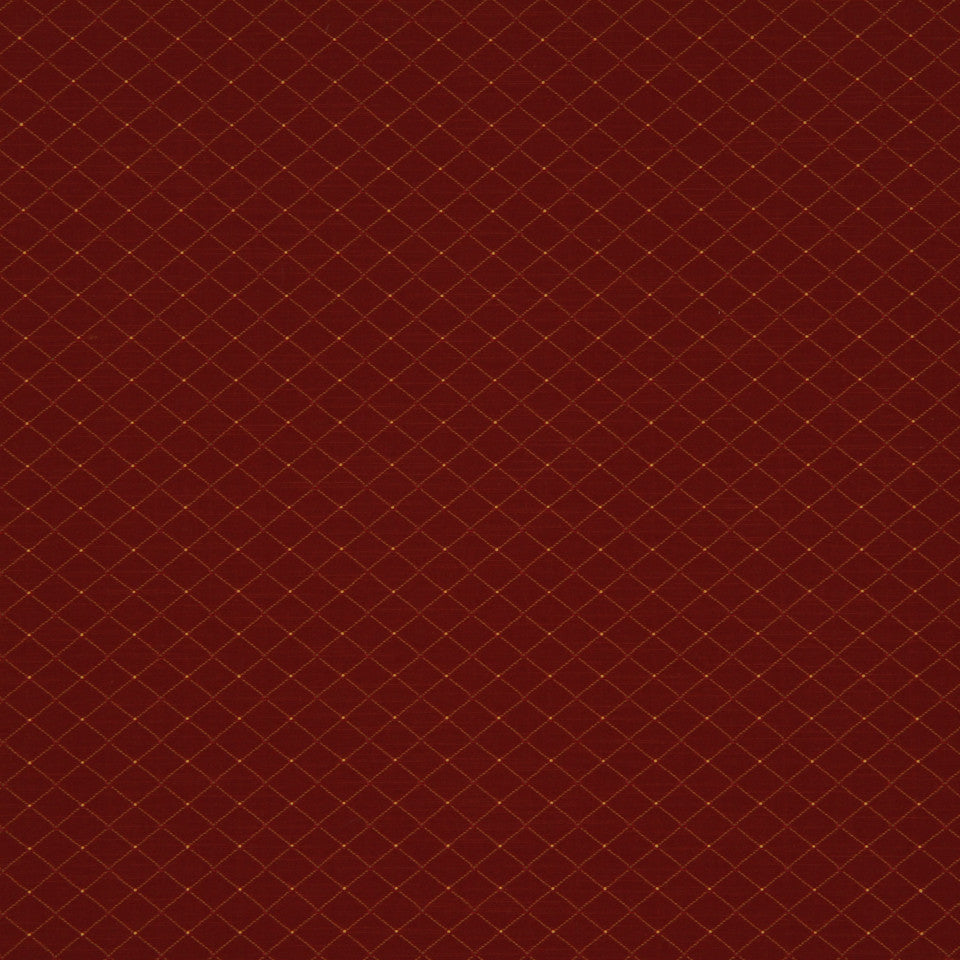 RUBY-BEESWAX-GERANIUM Diamond Burst Fabric - Barn Red