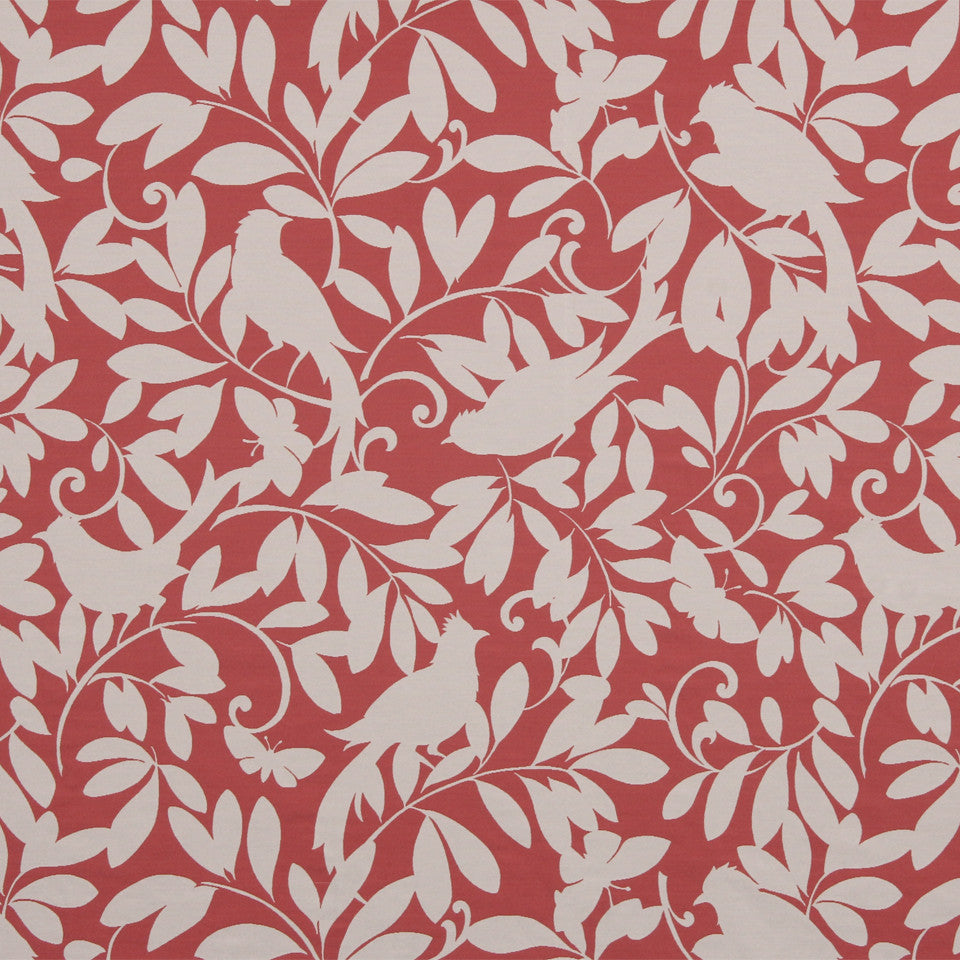 KIWI-FIESTA-CARIBBEAN Leaf Point Fabric - Peony