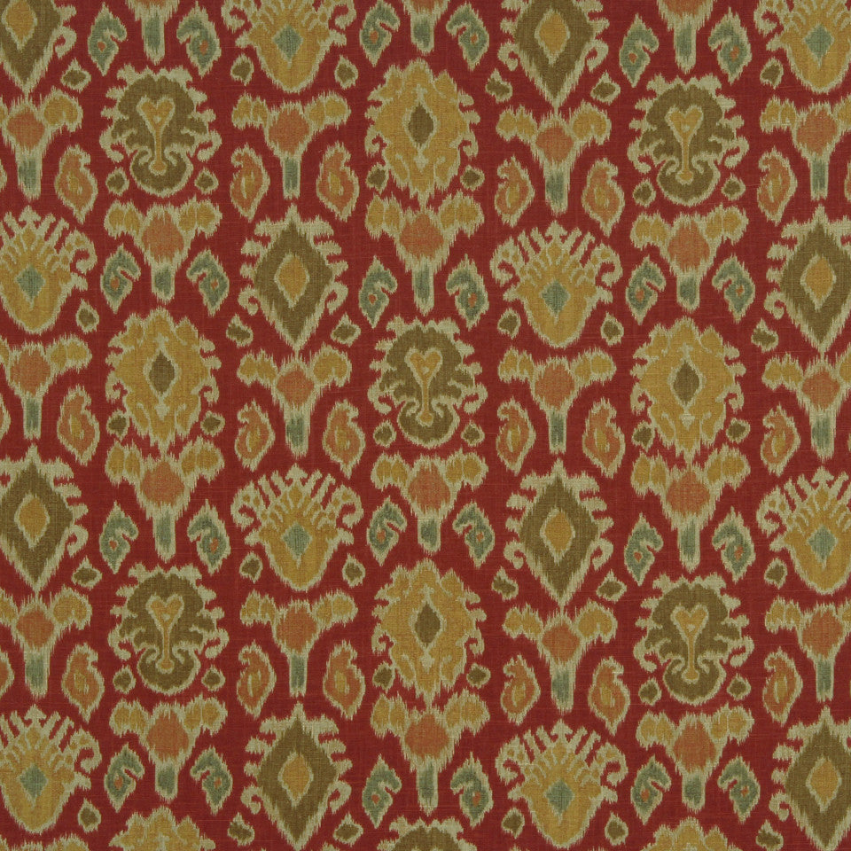 RUBY-BEESWAX-GERANIUM Autumn Glow Fabric - Cayenne