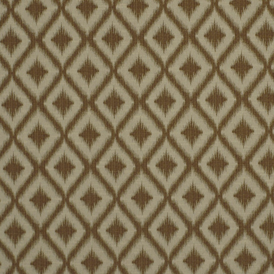 SUNSET-HENNA-BERRY Ikat Fret Fabric - Bronze