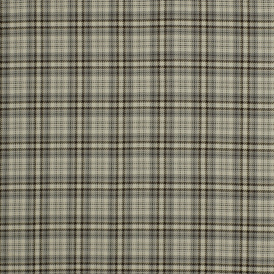 Luxe Glen Fabric - Onyx Flax
