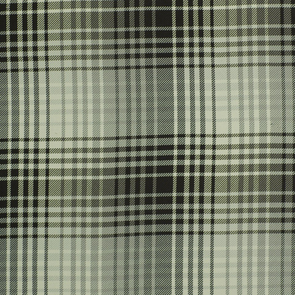 Luxe Plaid Fabric - Cinder Ivory