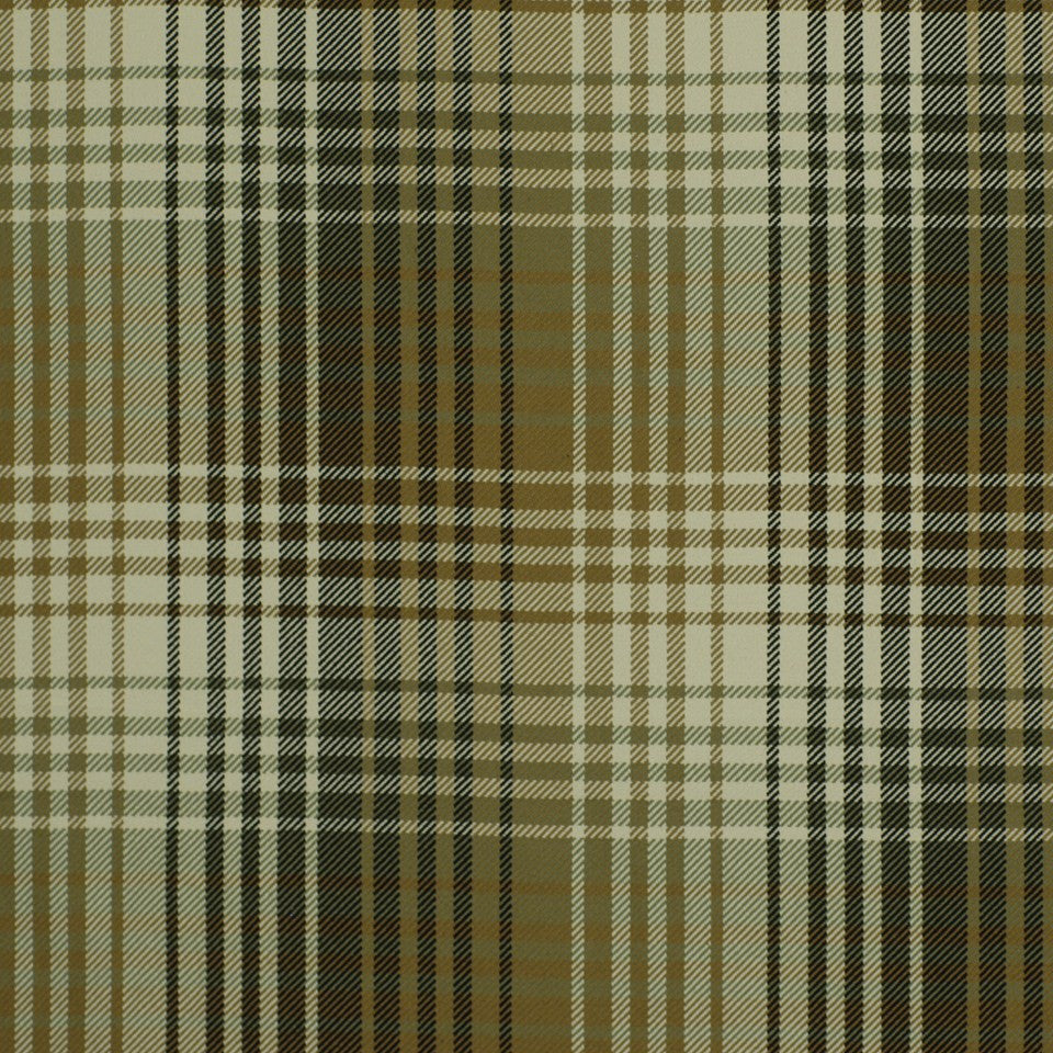 Luxe Plaid Fabric - Onyx Flax
