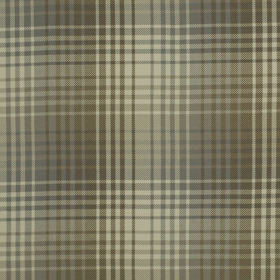 Luxe Plaid Fabric - Pewter Stone