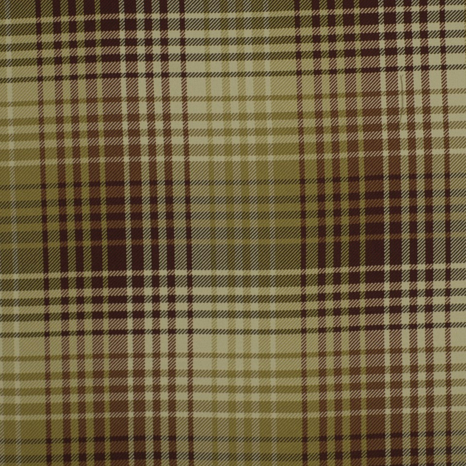 Luxe Plaid Fabric - Tuscan Red