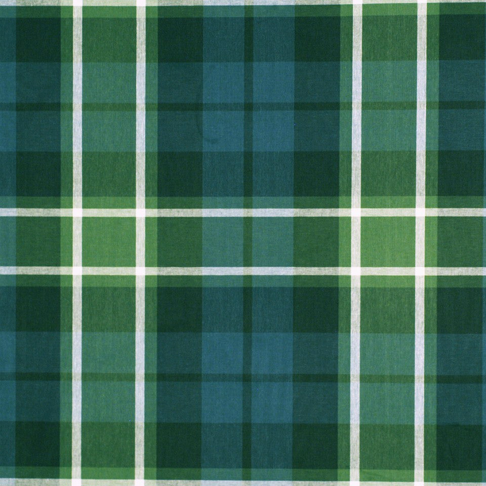 PEWTER-TOURMALINE-BLUEBELL Plaid Glen Fabric - Navy Green