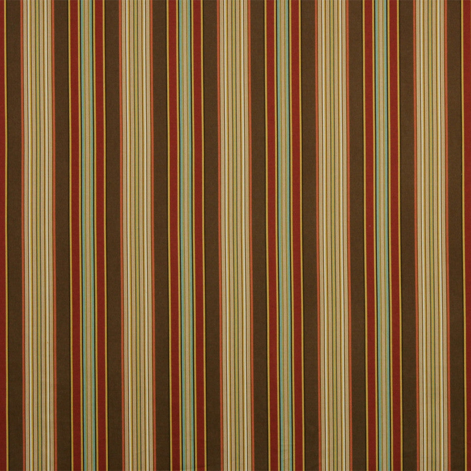 RUBY-BEESWAX-GERANIUM Striping Fabric - Port