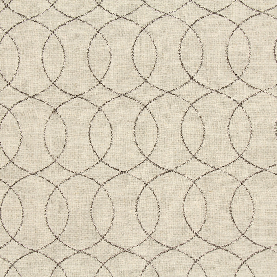 DWELLSTUDIO GLOBAL MODERN LUXE Gate Stitch Fabric - Espresso