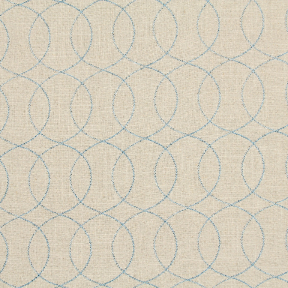 Gate Stitch Fabric - Azure
