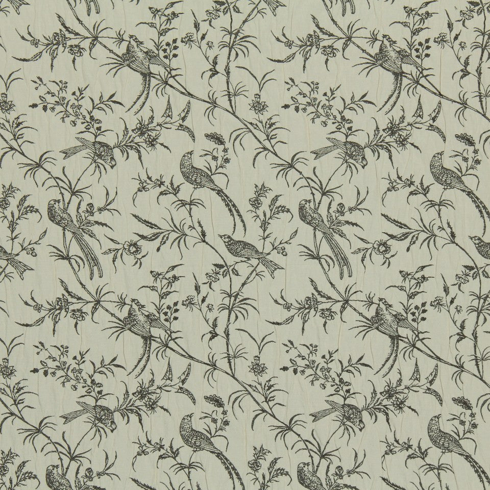 GREYSTONE Bird Song Fabric - Greystone