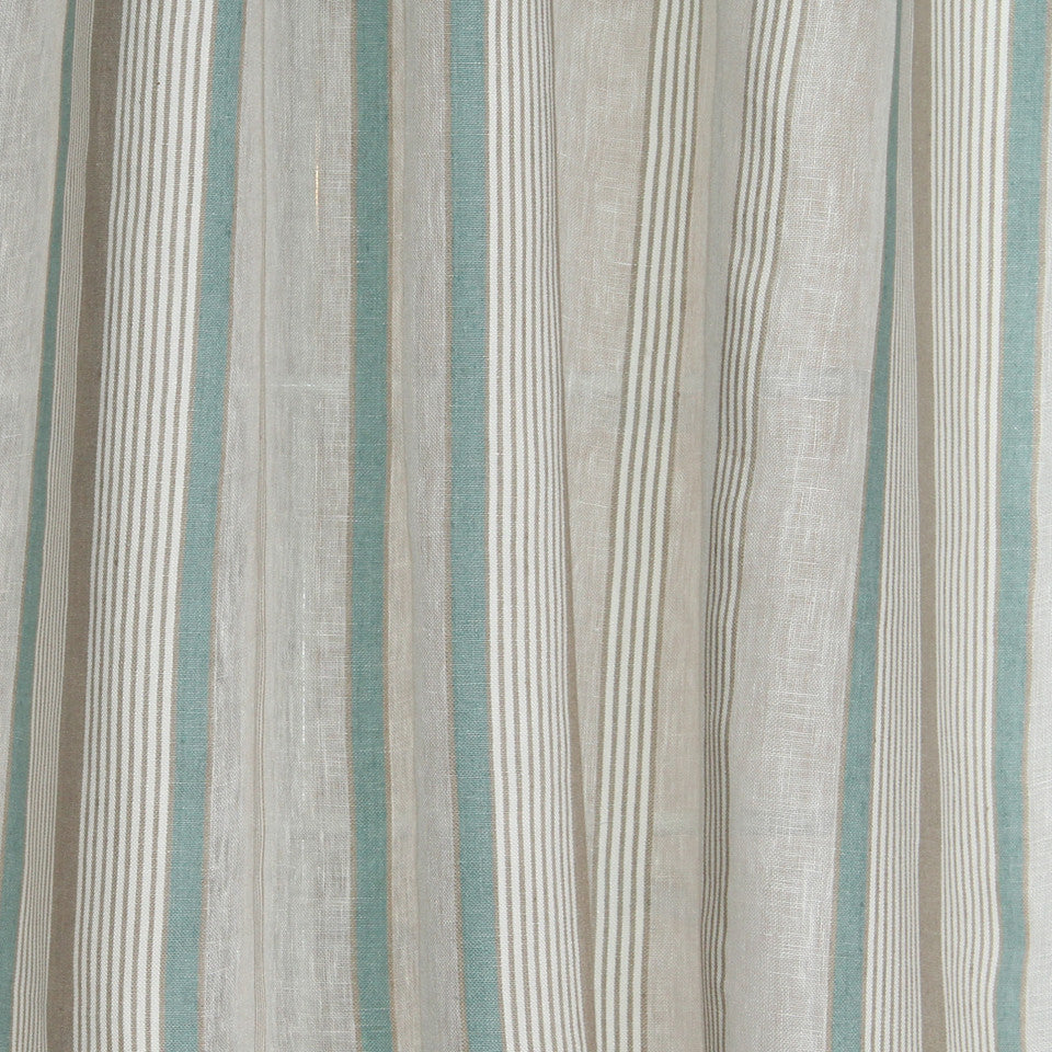 NATURAL SHEERS DARK NEUTRALS Reality Line Fabric - Ocean