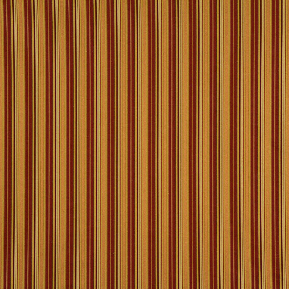 RUBY-BEESWAX-GERANIUM Abby Stripe Fabric - Russet