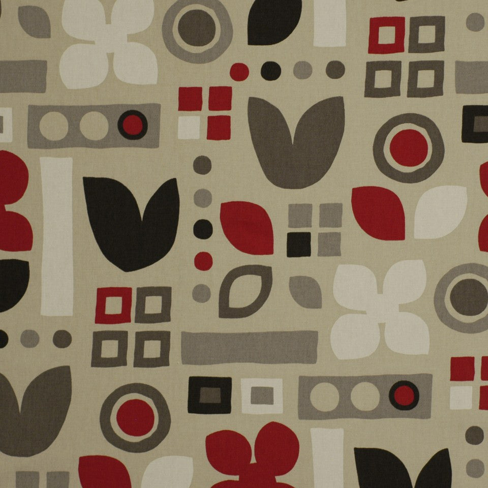 Habitat Fabric - Cherry