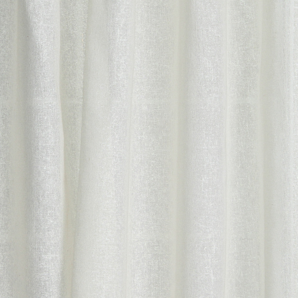 SOLID LINEN SHEERS Light N Bright Fabric - Snow