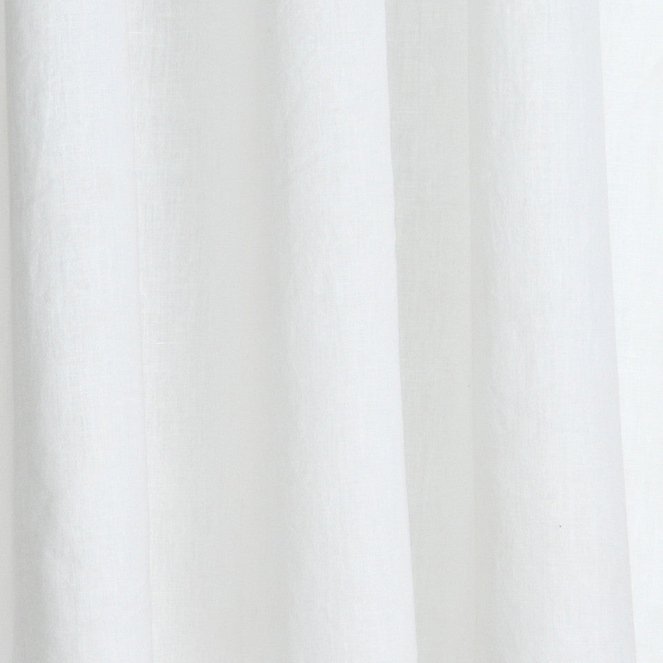 SOLID LINEN SHEERS Helene Fabric - White