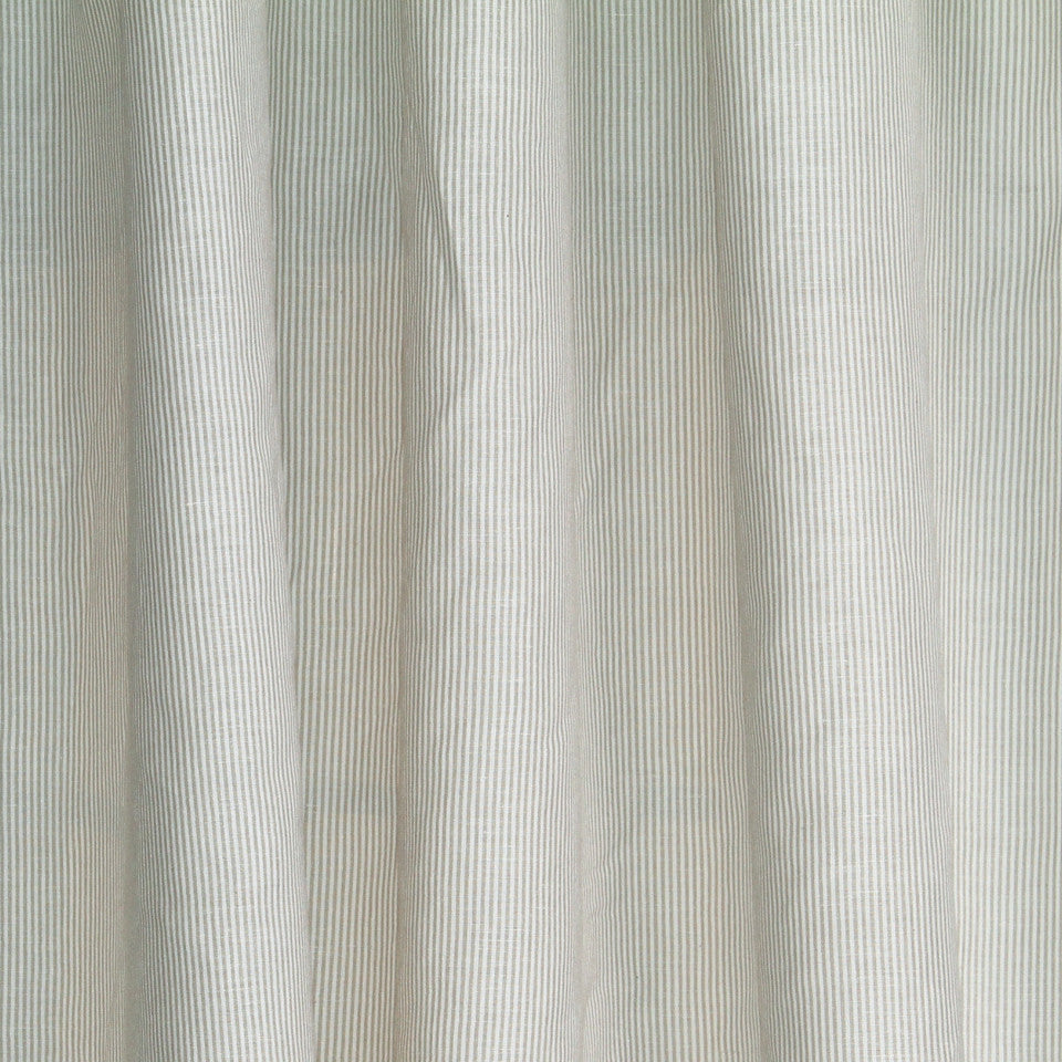 LINEN SHEERS STRIPES & PLAIDS Helene Stripe Fabric - Buff