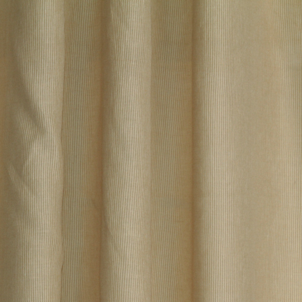 LINEN SHEERS STRIPES & PLAIDS Helene Stripe Fabric - Butterscotch
