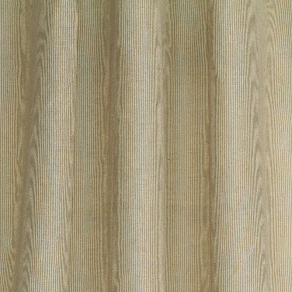 LINEN SHEERS STRIPES & PLAIDS Helene Stripe Fabric - Wheat