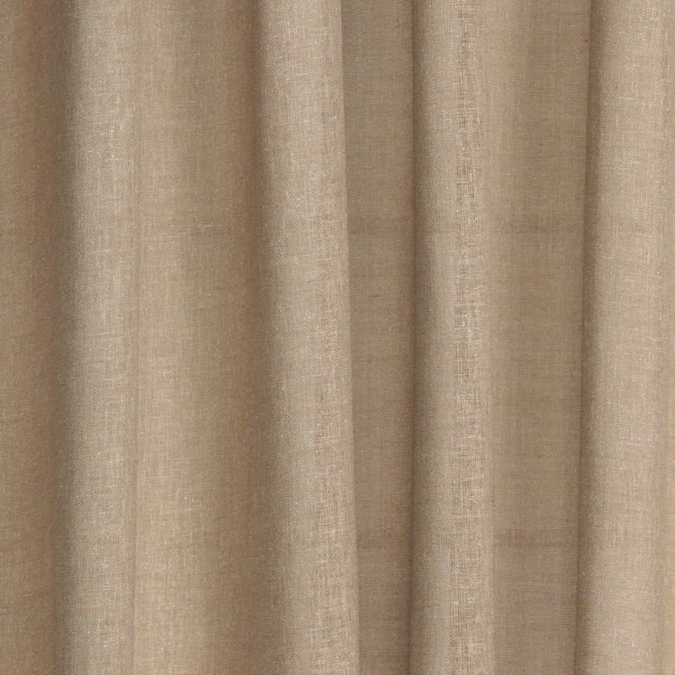 SOLID LINEN SHEERS Kazak Fabric - Taupe