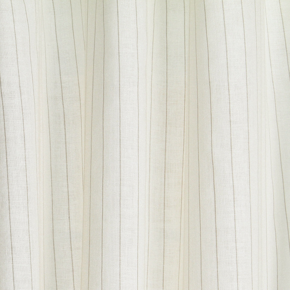 LINEN SHEERS STRIPES & PLAIDS Kazak Stripe Fabric - Silt