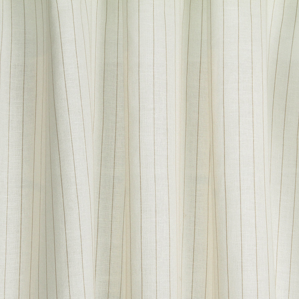 LINEN SHEERS STRIPES & PLAIDS Kazak Stripe Fabric - Creme
